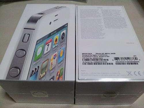 Apple iphone 64gb blanco 4s desbloqueado