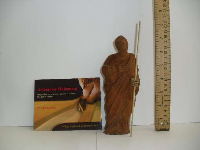 Jose carved mahogany wood religious statue