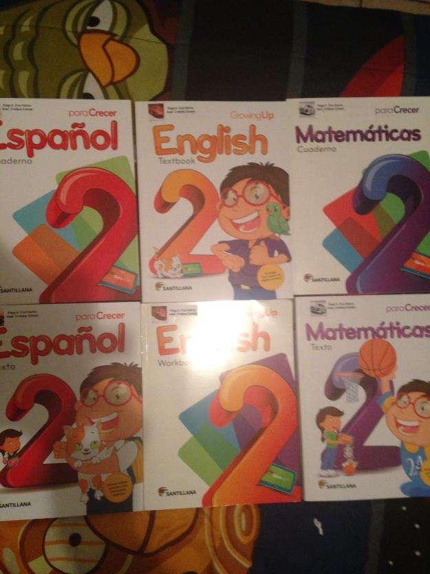 Libros y cuadernos santillana edicion para crecer !nuevos!