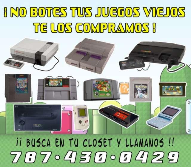 Te pagamos cash! por tus juegos de video viejos!!!!!!