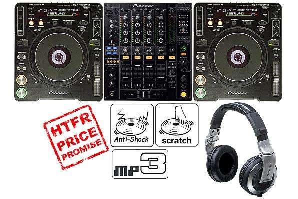 2x pioneer cdj-2000 y 1x djm 2000 + mezclador caso ataúd + auriculares .. 1.800 euros